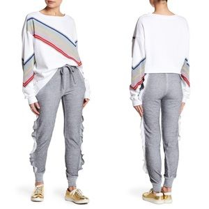 NWT Wildfox Norelle Ruffle Side Joggers